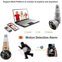Quality EAZZYDV Wireless  Bulb Wifi Camera Indoor Security Camera Spy camera with LED light and Remote Control for sale