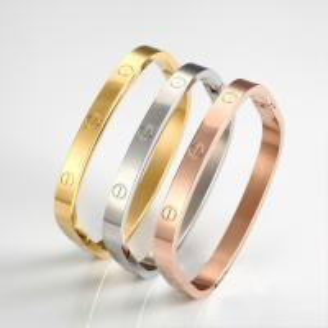 New Design Square Shape Stainless Steel Screw Bracelets