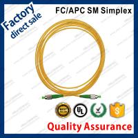 fc/apc optic fiber patch cords for structure cabling to patch panel ST SC FC LC green connectors single mode simplex Manufactures