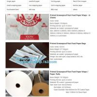 Food paper wraps, food paper bags,pe coated paper rolls, sandwich paper,hot dog