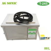 China Diesel Engine Parts Ultrasonic Cleaning Machine 88L with Basket and Casters on sale