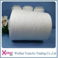 100% Polyester Twist Ring Spun Polyester Yarn Raw White Material or Dope Dyed Color Manufactures