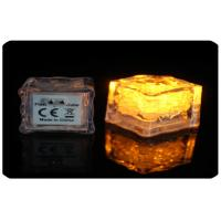 2.8cm Water Or Liquid Activated Led Light Ice Cubes With AG3 Cell Battery Manufactures