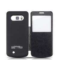 Samsung Battery Case With Folding Stand , External Android Charging Case 4200m Ah For Galaxy 5 Manufactures