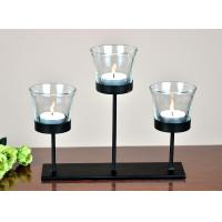 China metal tea light holder with glass cup without tea light for table home decoration on sale