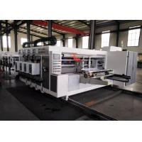 Lead Edge Feeder Corrugated Carton Flexo Printer Slotter Machine / Carton Box Packing Machine Manufactures
