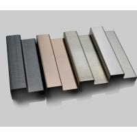 China baseboard molding stainless steel moulding shaped trim profiles on sale