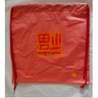 Red Plastic Drawstring Double shoulder Backpack / drawstring shopping bags Manufactures