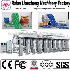plastic bag, label etc multi-color and width 10-70M/MIN photogravure press machine Manufactures