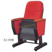 China Public Foldable Auditorium Chairs with Caster and Wooden Writing Tablet on sale