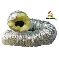 Fiberglass Aluminum Insulated Flexible Ducting , 10 Round HVAC Duct Manufactures