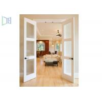 Double Glazing Frosted Glass Aluminium Hinged Interior Swing Doors for Washroom Manufactures