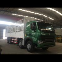 Buy cheap 30 - 40 Ton loading capacity 12 wheelers 8*4 fence stage cargo truck vans for sale from wholesalers