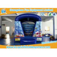 Buy cheap Blue Fish Theme Blow Up Bouncy Castle For Children 2 Years Warranty from wholesalers