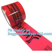 China Security void tape,Tamper Evident Security Void Tapes,Red Tamper Evident Void if Opened Security Tape PET Backing Materi on sale