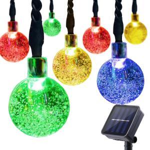 Solar String Lights Outdoor, 30 LED Crystal Balls Waterproof Globe Solar Powered Fairy String Lights for Bedroom Garden Manufactures