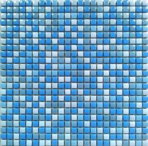 China OPR017 blue china romano mosaic random floor tile on sale