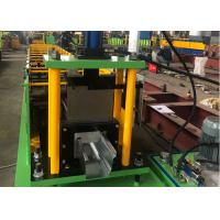 China 0.3-0.8 mm Thickness K Type Gutter Roll Forming Machine With Hydraulic Cutting on sale