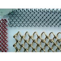 Chain Link Metal Mesh Curtains Corrosion Resistance With Length / Width Customized Manufactures