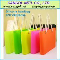 China Silicone woman handbags, lady bag; on sale