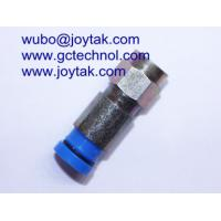 F Compression Connector for RG6 universal cable waterproof type all brass F male compression Manufactures