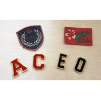 Fancy Artcial Letter Embroidered Name Patches For Kid Garment Plain Back,Felt Material Manufactures