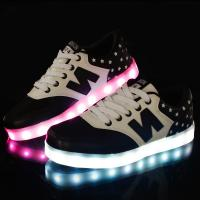 China hot sale new design flyknit led shoes with 7 led colors led