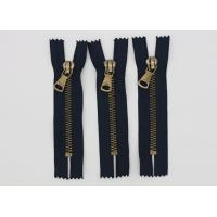 China Garment Antique Brass 14 Inch Heavy Duty Metal Zippers Navy Tape For Coveralls on sale