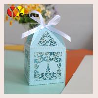China Christmas favors candy boxes 300pcs free shipping,laser cut christmas favors and gifts chocolate candy box on sale