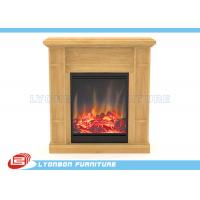 Solid Wood Veneer MDF Home Decor Fireplaces With Paint Finished / 905mm * 255mm * 970mm Manufactures