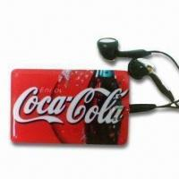 Credit Card MP3 Player with Built-in Lithium Polymer Battery and Supports microSD/T-Flash Card Manufactures