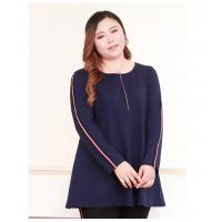 China Pullover Blouse Style Plus Size Ladies Shirts Figure Print Wrap Tunic Cotton Spandex on sale