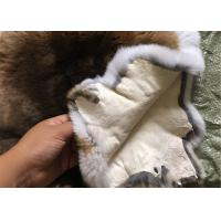 30*40cm Smooth Dyed Rabbit Fur Pelts Warm Comfortable For Winter Garment Manufactures