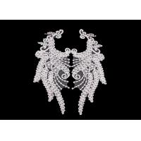 Polyester Angel Wings Lace Collar Applique For Fashion Show DIY Lace Patch Manufactures