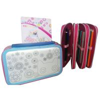 China Cute Awesome Customized Pencil Cases With 3 Compartments Sublimation on sale