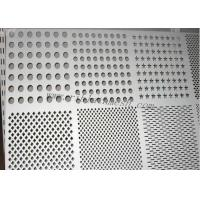Silver SS Perforated Metal Mesh Decorative Metal Sheets Lowes 0.8mm-100mm Hole Dia Manufactures