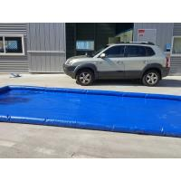 Flexible Blue Car Wash Mats Water Containment Printing Double - Tripple Stitch Manufactures