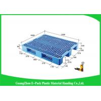China Double Sides 4 - Way Stackable Plastic Pallets , Plastic Skids Pallets 1200 X 1000mm on sale