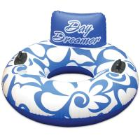 Durable Inflatable Single Water Ski Tube With Handles & Pillow Manufactures