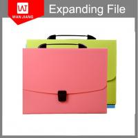China wholesale office supplies A4 FC document holder PP expanding file folder with lock on sale