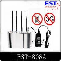 3G Cell Phone Signal Jammer Blocker EST - 808A 2100 - 2200MHZ Frequency Manufactures