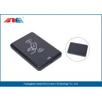 13.56 MHz Desktop Contactless RFID Reader , USB Interface RFID Chip Readers 46g Manufactures