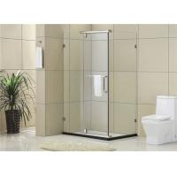 Square Framesless Stainless Pivot  Shower Enclosures 8 / 10 MM Tempered Glass for Home / Hotel Manufactures