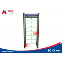 Touch Screen Door Frame Metal Detector , Pass Through Metal Detector 8 Detecting Zone Manufactures