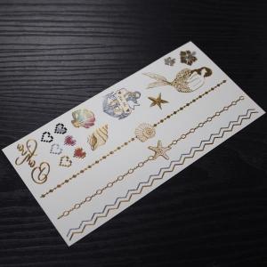 China custom metallic gold jewel temporary tattoos on sale