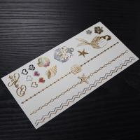 gold color temporary metallic tattoo gold temporary tattoos sticker Manufactures