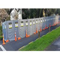 Construction Site Portable Sound Barrier Secured with Temp Fence Panels Manufactures