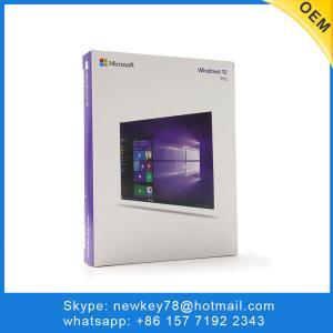 China Amazon Hotsale Windows 10 Professional Retail Box Russian / Korean Language Full Version With DVD / USB Win 10 Pro on sale