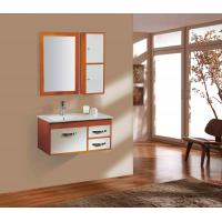 China 600X500X870 mm Floor Mounted MDF modern pvc white bathroom sink base cabinets on sale