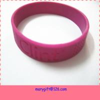 Buy cheap 1/2 Inch Silicone Deboss Bracelets/wristband/bangle No Minimun from wholesalers